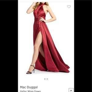 Macduggal dress burgundy